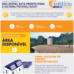 Miniatura de um infográfico que mostra uma ilustração branca e azul de uma casinha com paineis fotovoltaicos e o texto Área Disponível ao lado. Link do post sobre tipos de painel solar.