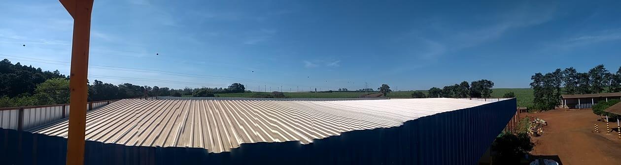 Energia Solar no Agronegócio - Telhado do galpão